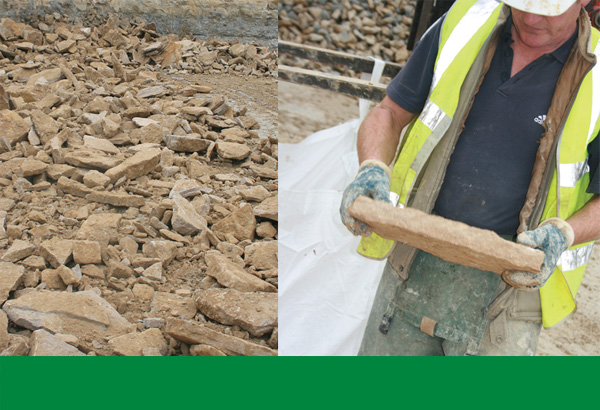 Natural Cotswold stone comes in all shape and sizes. Smiths ensure all stone is hand sorted before leaving the quarry.