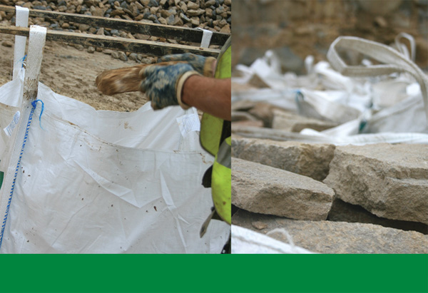 Once the stone has been prepared and sorted it is placed in Smiths' bulk bags. It is also available for loose delivery or customer collection.