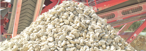 Stock pile of gravel
